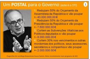 postal para o governo